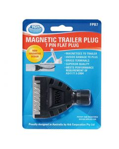 Magnetic Trailer Plug - 7 Pin Flat Plug - Blister