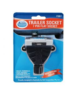 Trailer Socket - 7 Pin Flat Socket