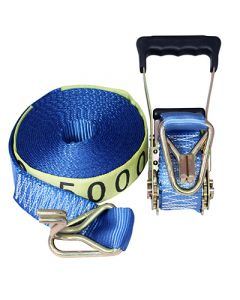 Heavy Duty Ratchet Tie Down with Hook and Keeper - 25mm x 5m