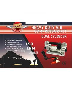 Heavy Duty Air Compressor Kit Dual Cylinder